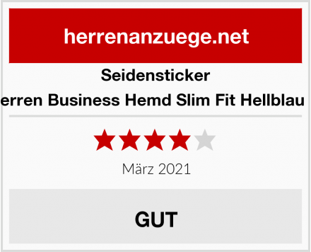 Seidensticker Herren Business Hemd Slim Fit Hellblau 11 Test