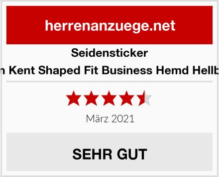 Seidensticker Herren Kent Shaped Fit Business Hemd Hellblau 15 Test
