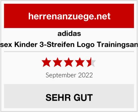 adidas Unisex Kinder 3-Streifen Logo Trainingsanzug Test