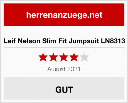 Leif Nelson Slim Fit Jumpsuit LN8313 Test
