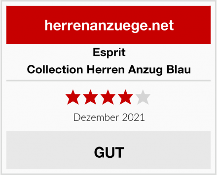 Esprit Collection Herren Anzug Blau Test