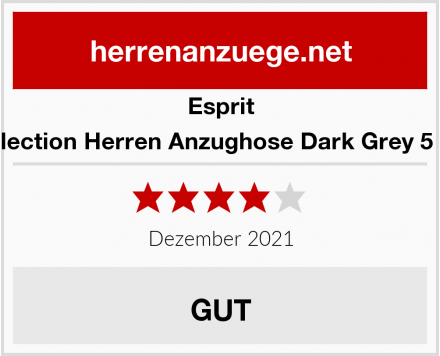 Esprit Collection Herren Anzughose Dark Grey 5 024 Test