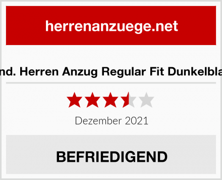 find. Herren Anzug Regular Fit Dunkelblau Test