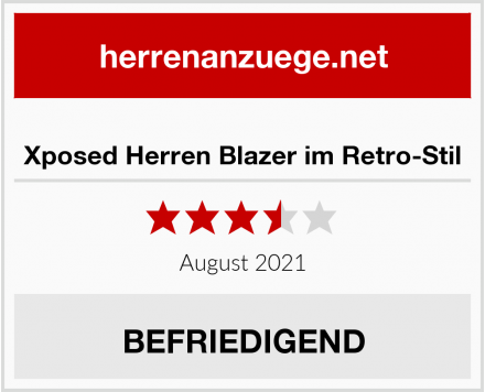Xposed Herren Blazer im Retro-Stil Test