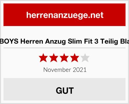 SBOYS Herren Anzug Slim Fit 3 Teilig Blau Test