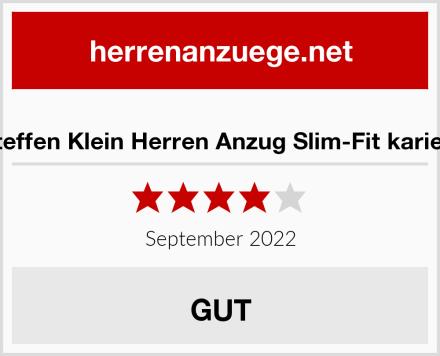 Steffen Klein Herren Anzug Slim-Fit kariert Test