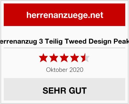 TruClothing.com Herrenanzug 3 Teilig Tweed Design Peaky Blinders 1920 Stil Test