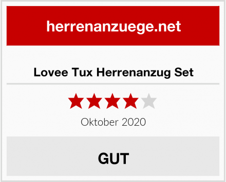 Lovee Tux Herrenanzug Set Test