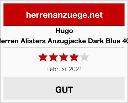 Hugo Herren Alisters Anzugjacke Dark Blue 401 Test