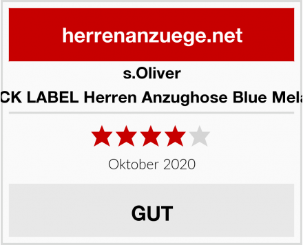 s.Oliver BLACK LABEL Herren Anzughose Blue Melange Test