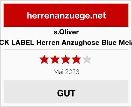 s.Oliver BLACK LABEL Herren Anzughose Blue Melange Test