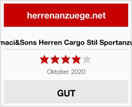 Amaci&Sons Herren Cargo Stil Sportanzug Test