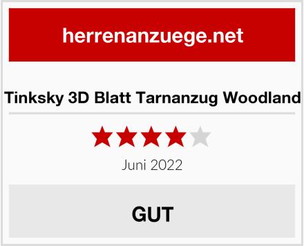 Tinksky 3D Blatt Tarnanzug Woodland Test