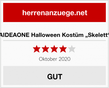 "AIDEAONE Halloween Kostüm ""Skelett"" Test"