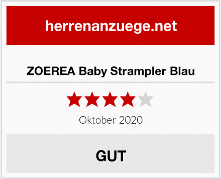 ZOEREA Baby Strampler Blau Test