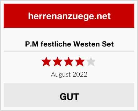 P.M festliche Westen Set Test