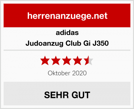 adidas Judoanzug Club Gi J350 Test