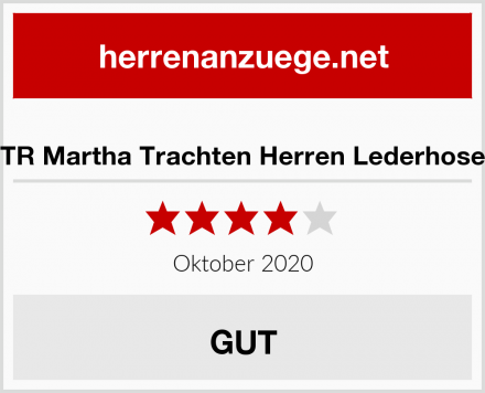 TR Martha Trachten Herren Lederhose Test