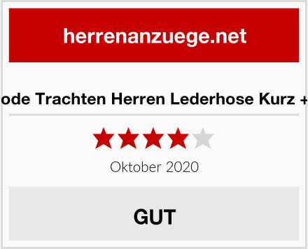 Alpenmode Trachten Herren Lederhose Kurz + Träger Test