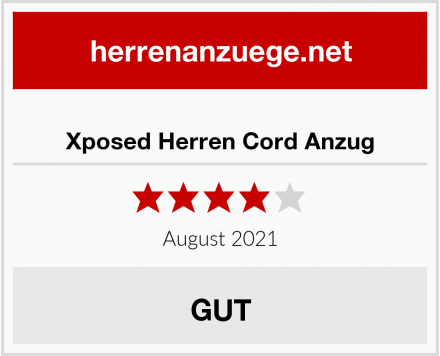 Xposed Herren Cord Anzug Test