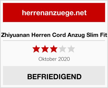 Zhiyuanan Herren Cord Anzug Slim Fit Test