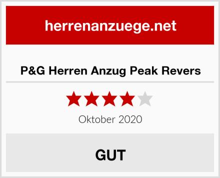 P&G Herren Anzug Peak Revers Test