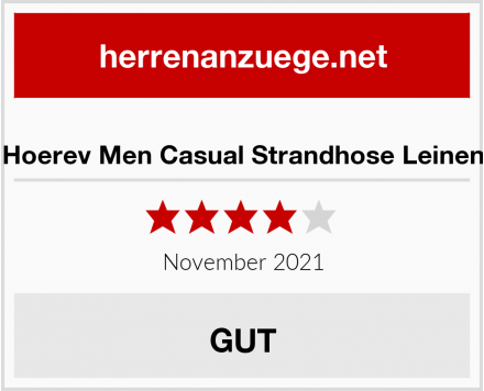 Hoerev Men Casual Strandhose Leinen Test