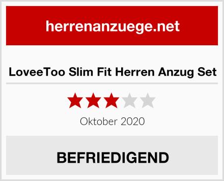 LoveeToo Slim Fit Herren Anzug Set Test