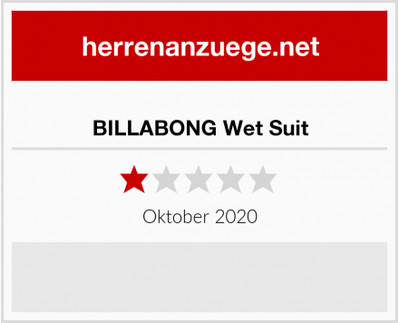 BILLABONG Wet Suit Test