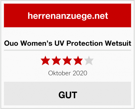 Ouo Women's UV Protection Wetsuit Test