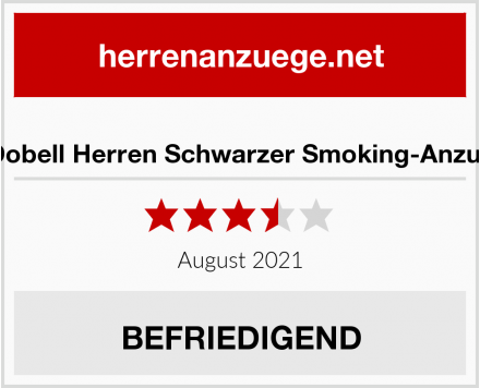 Dobell Herren Schwarzer Smoking-Anzug Test
