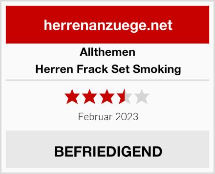 Allthemen Herren Frack Set Smoking Test