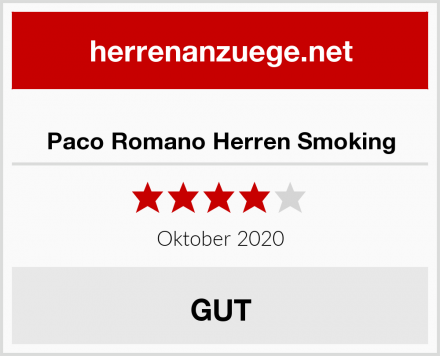Paco Romano Herren Smoking Test