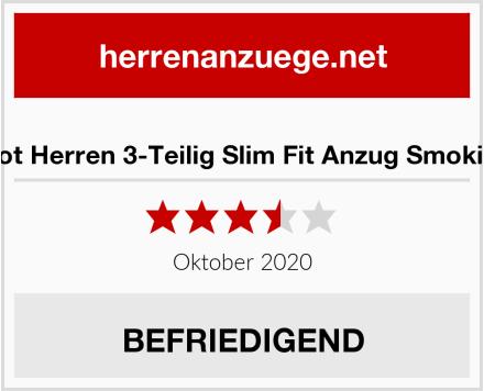 Plot Herren 3-Teilig Slim Fit Anzug Smoking Test