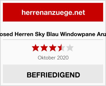 Xposed Herren Sky Blau Windowpane Anzug Test