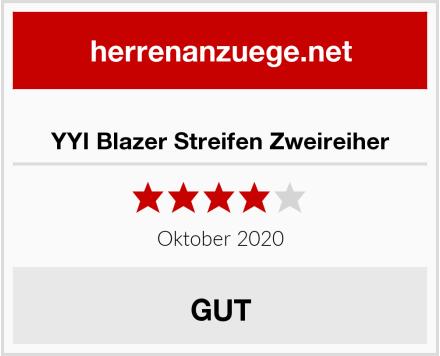 YYI Blazer Streifen Zweireiher Test