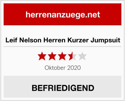 Leif Nelson Herren Kurzer Jumpsuit Test