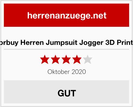 Morbuy Herren Jumpsuit Jogger 3D Printed Test