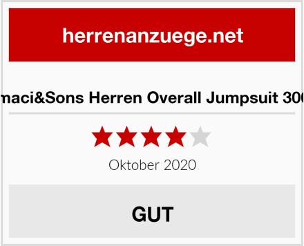 Amaci&Sons Herren Overall Jumpsuit 3004 Test