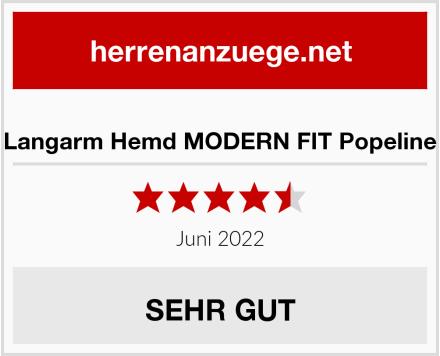 eterna Langarm Hemd MODERN FIT Popeline kariert Test