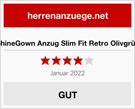 ShineGown Anzug Slim Fit Retro Olivgrün Test