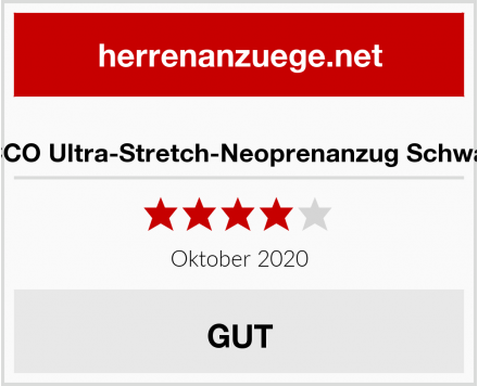 ZCCO Ultra-Stretch-Neoprenanzug Schwarz Test