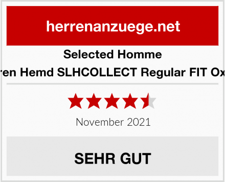 Selected Homme Herren Hemd SLHCOLLECT Regular FIT Oxford Test