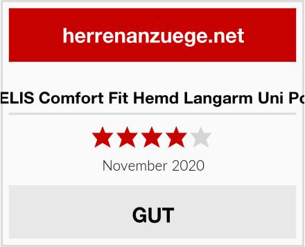 MARVELIS Comfort Fit Hemd Langarm Uni Popeline Test