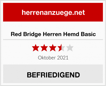 Red Bridge Herren Hemd Basic Test