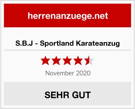 S.B.J - Sportland Karateanzug Test