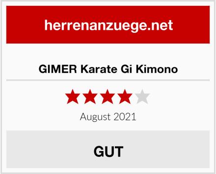 GIMER Karate Gi Kimono Test