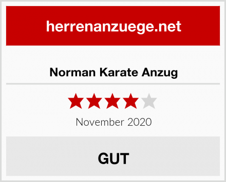 Norman Karate Anzug Test