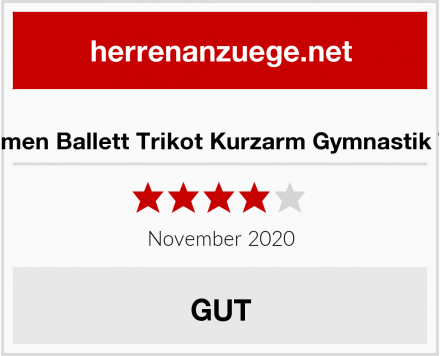 Aquarti Damen Ballett Trikot Kurzarm Gymnastik Tanz-Body Test