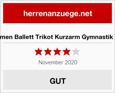 Aquarti Damen Ballett Trikot Kurzarm Gymnastik Tanz-Body Test